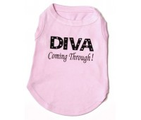 Diva Coming Through - Diamante Dog T-shirt
